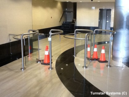 glass-turnstiles