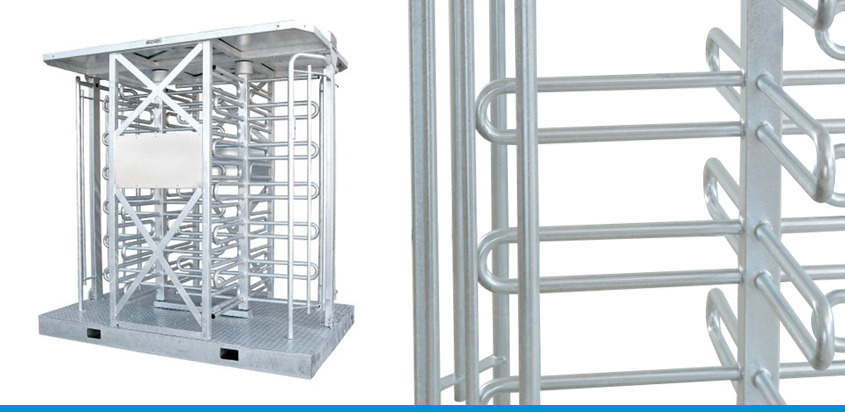 Portable full height turnstile