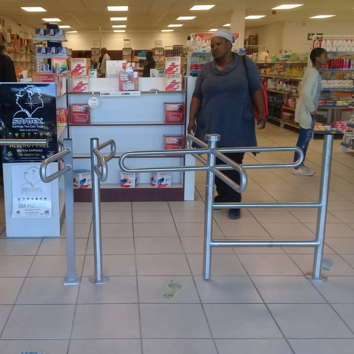 Tourniquet de supermarché d'hélicoptère