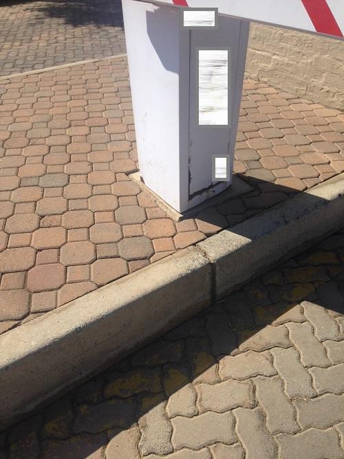 rusting vehicle barrier