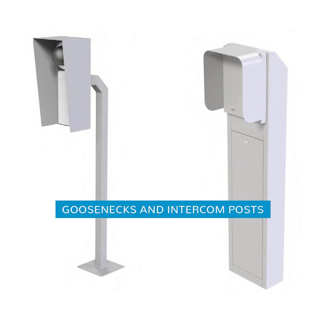 goosenecks and intercom posts